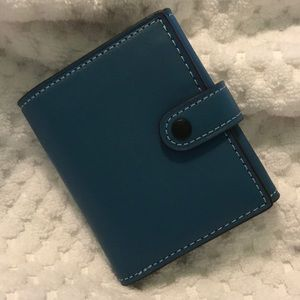 Coach 1941 River Blue Small Tri Fold Wallet